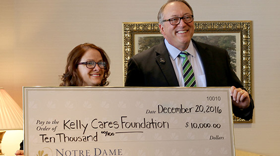 Notre Dame FCU Donates $10,000 to Kelly Cares Foundation