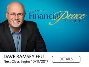 Dave Ramsey FPU Classes Begin October 11
