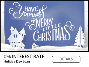 0% Interest Rate Holiday Loan