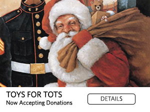 Toys for Tots. Now accepting donations. Details.