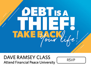Debt is a thief! Take back your life! Dave Ramsey Class. Attend Financial Peace University. RSVP