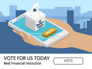 Vote for us today. best financial institution. Vote