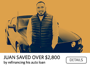 Juan saved over $2800 by refinancing his auto loan. Details