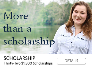 More than a scholarship. Thirty-two $1500 scholarships. Details.