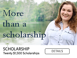 More than a scholarship. twenty $1500 scholarships