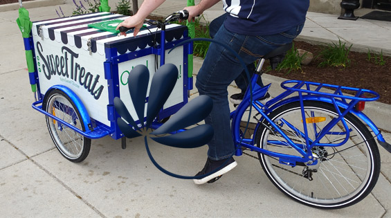 """Notre Dame FCU Supports Local Community with New """"Sweet Treats"""" Bike"""