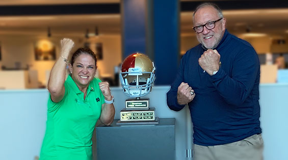 Notre Dame FCU Battles USC Credit Union in  Seventh Annual $10,000 Charity Challenge